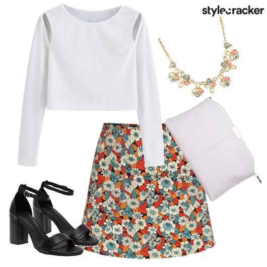 Print Skirt Blockheels  - StyleCracker