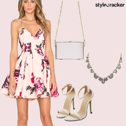 Floral Heels Fun Clutch  - StyleCracker