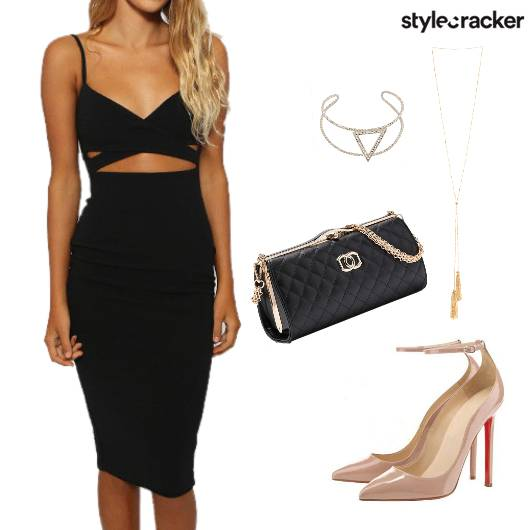 Dress CutOut Heels Jewellery  - StyleCracker
