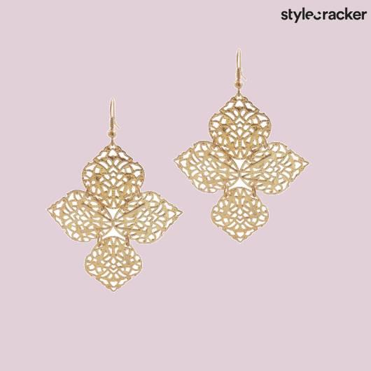 SCLOVES EARRINGS GOLD - StyleCracker