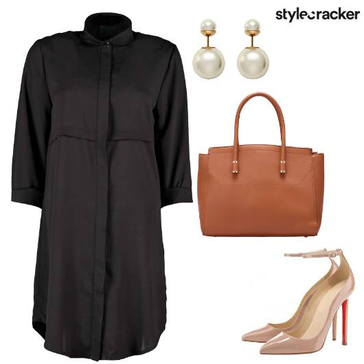 ShirtDress Basic Pearl Casual  - StyleCracker