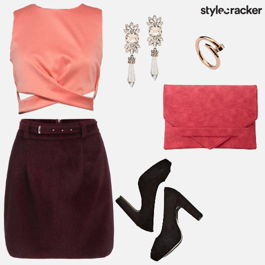 Suede Croptop Party Night Pumps - StyleCracker