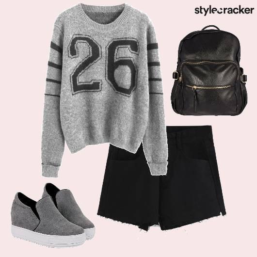Sweatshirt Shorts Plimsolls Backpack  - StyleCracker
