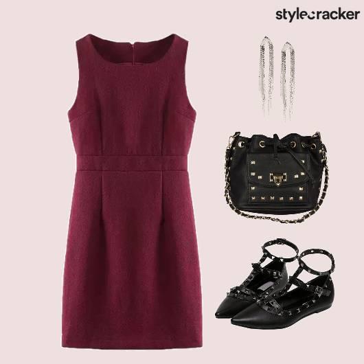 Dress Marsala Dinner - StyleCracker