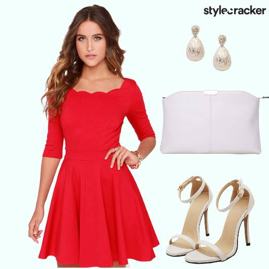 Red Dress Heels Clutch Earrings - StyleCracker