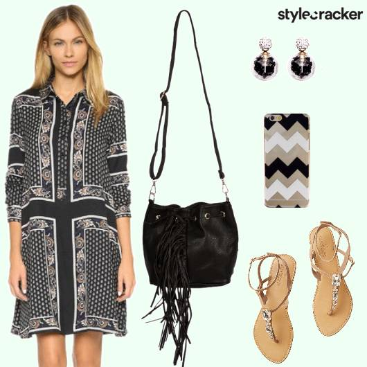 Dress Slingbag Flats Mobilecover  Earrings - StyleCracker