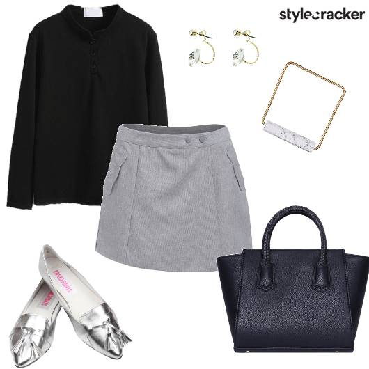 Shirt Skort Work Day Winter - StyleCracker