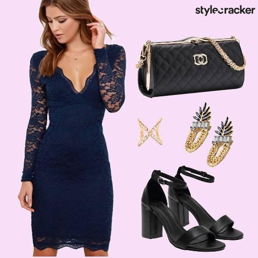 Lace Dress Party Box Heels - StyleCracker