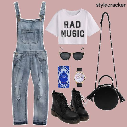 CropTop Overall Denim Shoes - StyleCracker