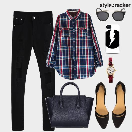 Shirt Plaid Bag Shoes Meeting - StyleCracker
