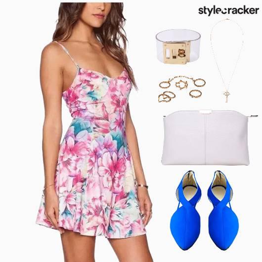 Dress Print Floral Accessories Shoes  - StyleCracker