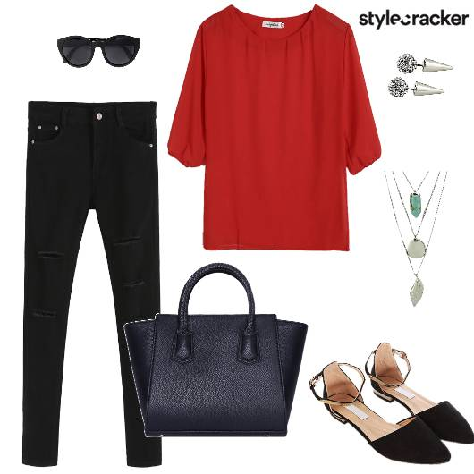 Top Flats Tote Sunglasses Necklace - StyleCracker