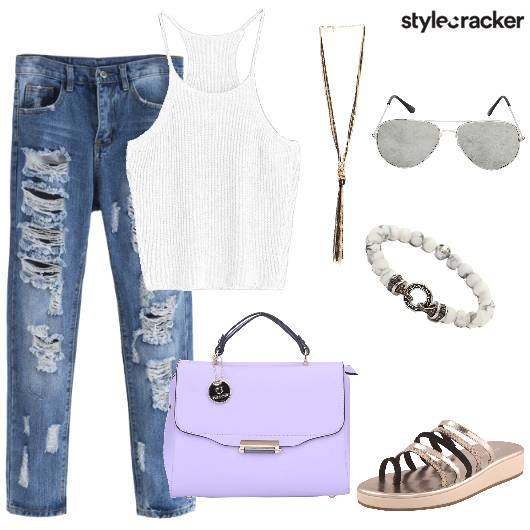 RippedJeans Knit Casual  - StyleCracker