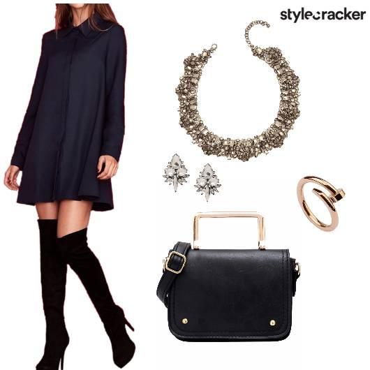 SHIRT DRESS PARTY WEAR SATCHEL BAG - StyleCracker