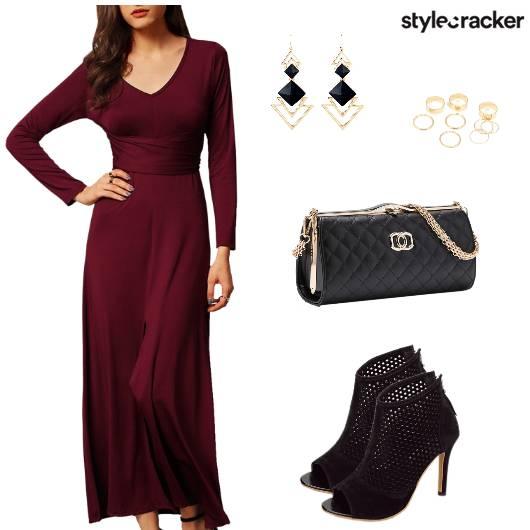 Dress Heels Clutch Earring Ring - StyleCracker