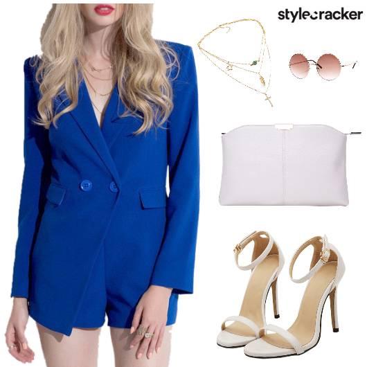 Romper Clutch Necklace Sunglasses - StyleCracker