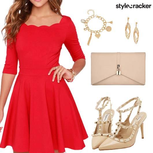 Skater Dress Clutch Charm Earring - StyleCracker