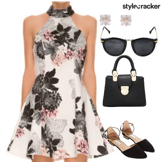 FLORAL BRUNCH SATCHEL BAG EARRINGS  - StyleCracker