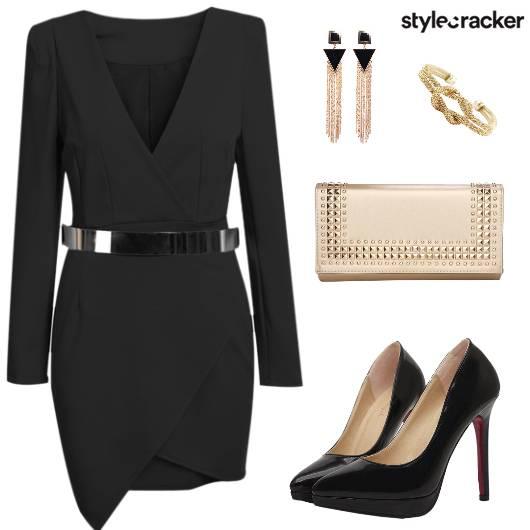 Dress Asymmetrical Heels Earring Clutch - StyleCracker