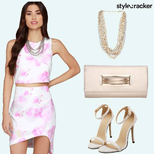 Croptop Skirt Assymetrical Stilettos - StyleCracker
