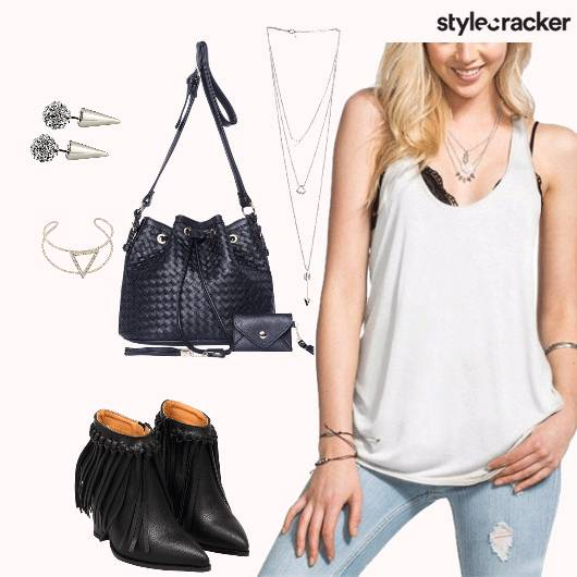 TANK TOP CASUALS COLLEGE EDGY  - StyleCracker