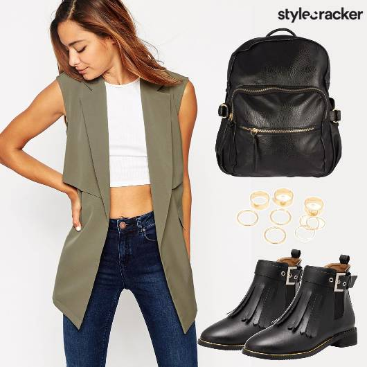 Olive Coat Leather Backpack Boots - StyleCracker