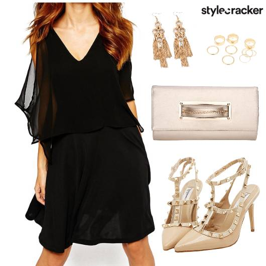 Dress Heels Clutch  Earring Ring - StyleCracker