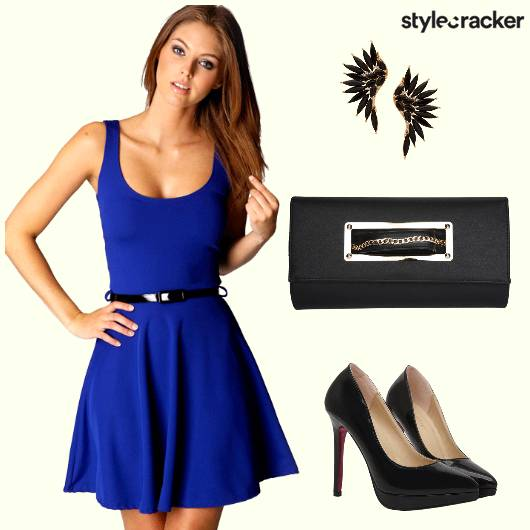 Dress Party Clutch Stilettoes Earrings - StyleCracker