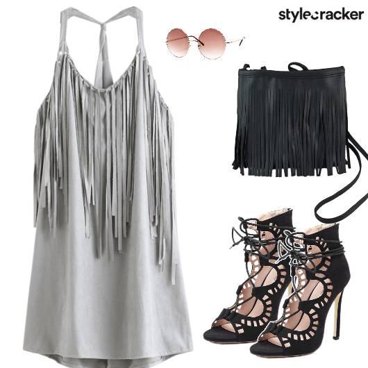 Fringe Dress Sling Heels Sunglasses - StyleCracker