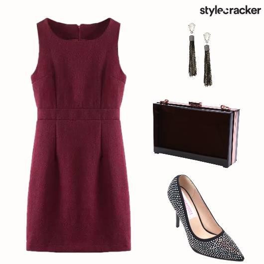 Dress Stilettos Clutch Danglers Earrings - StyleCracker