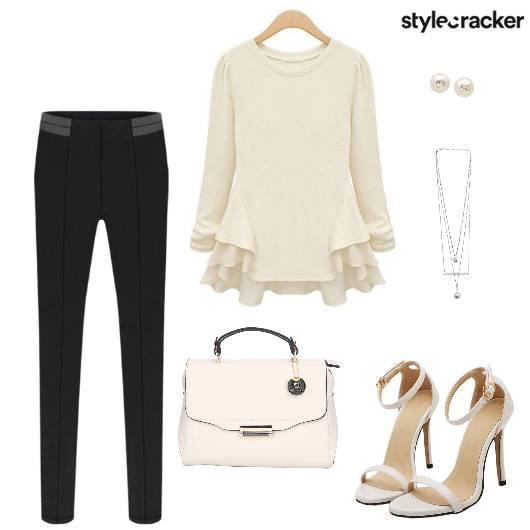 Top Ruffle Heels Bag Necklace - StyleCracker