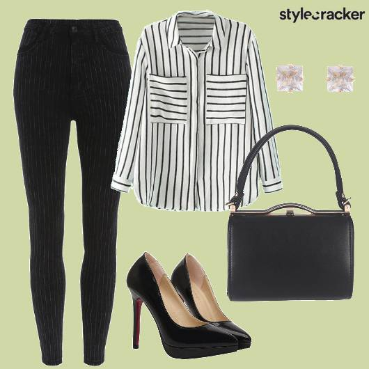Monochrome Stripes Workwear - StyleCracker