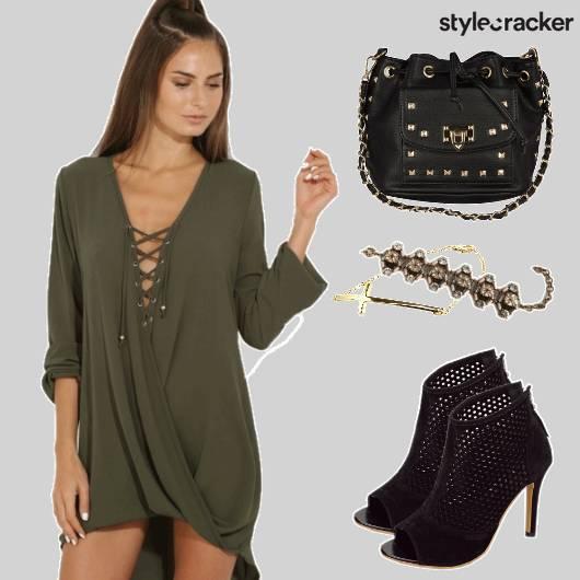 Laceup Asymmetrical Dress Suedeboots - StyleCracker