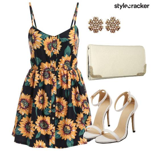 Floral Colorful Skater Dress - StyleCracker