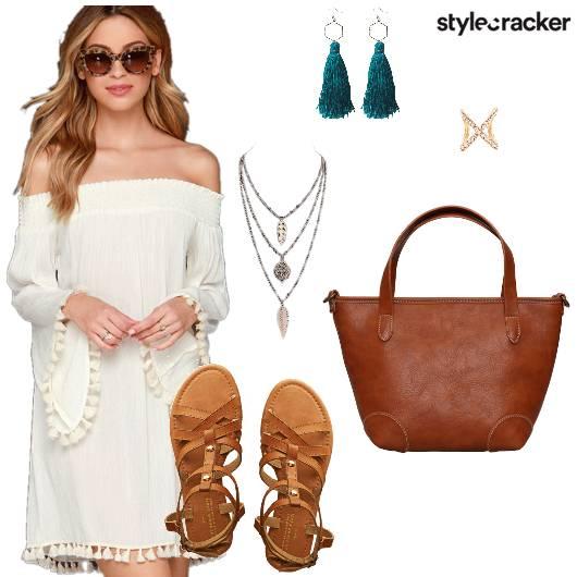 Dress Flats Tote Earring Necklace - StyleCracker