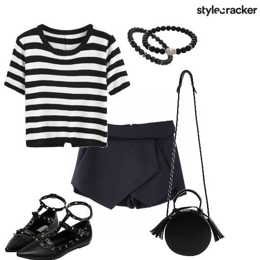 Skort Stripes Sling Outdoor Day - StyleCracker