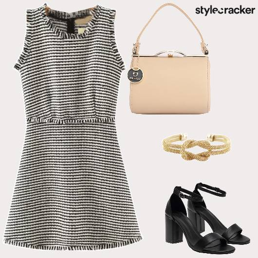 Stripes Dress  BlockHeels  - StyleCracker