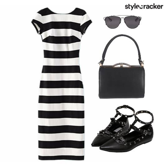 Dress Stripes Meetings Bag Shoes - StyleCracker