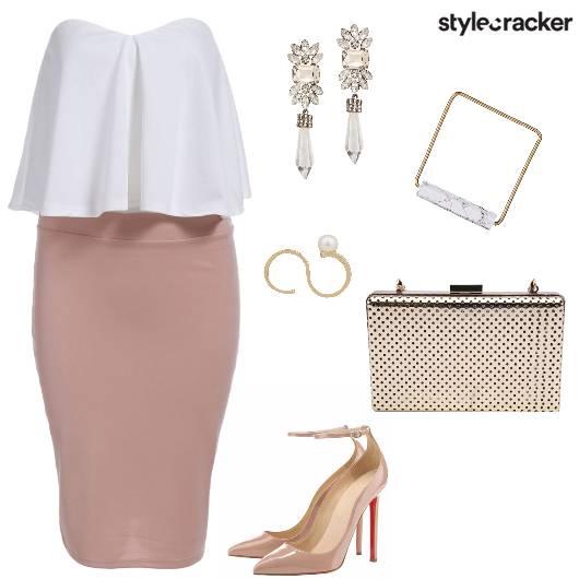 Skirt Tube Crop Evening Party  - StyleCracker