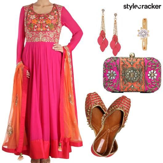 Indian Ethnic Anarkali Wedding Night - StyleCracker