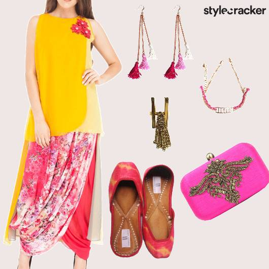 Indian Ethnic Festive Dhoti Salwar Wedding - StyleCracker