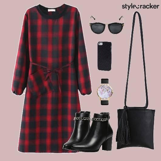 Dress Plaid Shoes Bag Accessories - StyleCracker