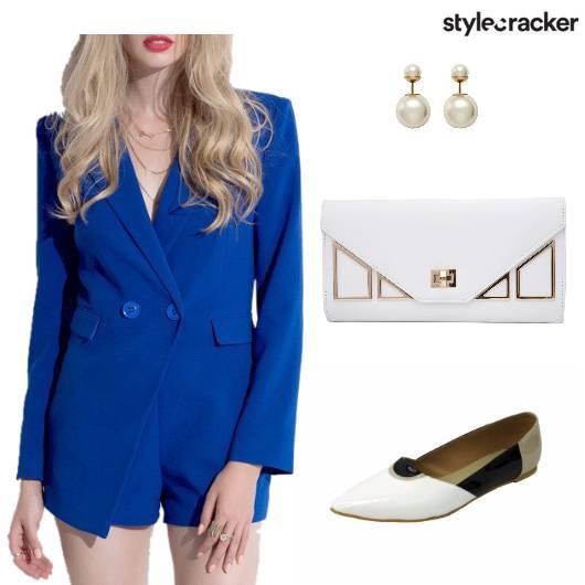 Officewear Clutch Shoes Earrings  - StyleCracker