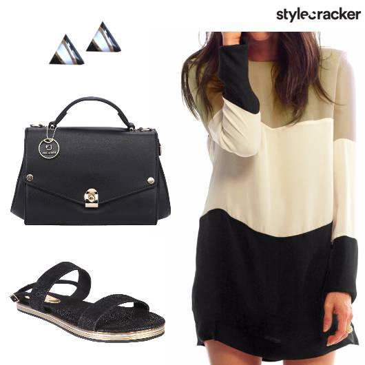 Bag Dress Earrings Sandals - StyleCracker