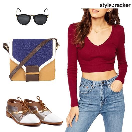 Croptop Jeans Slingbag Shoes  - StyleCracker