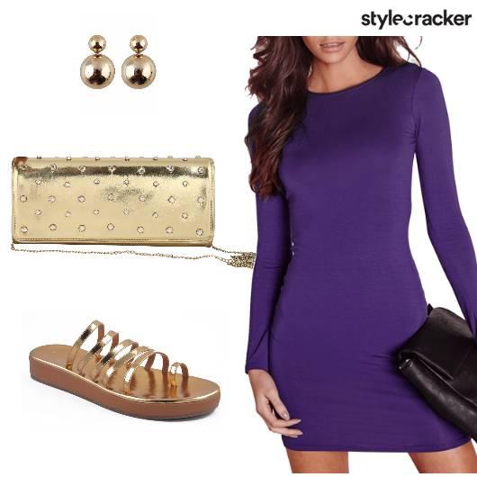 Sandals Dress Slingbag Studs - StyleCracker