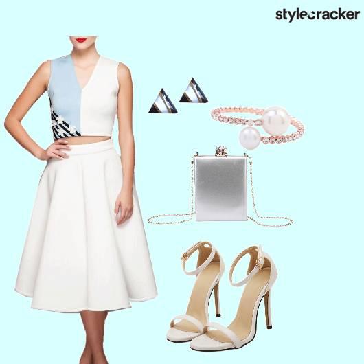 Skirt CropTop ColorBlocked Feminine - StyleCracker