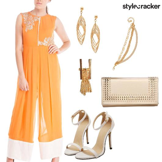 Indian Ethnic Jumpsuit Festive IndoWestern - StyleCracker
