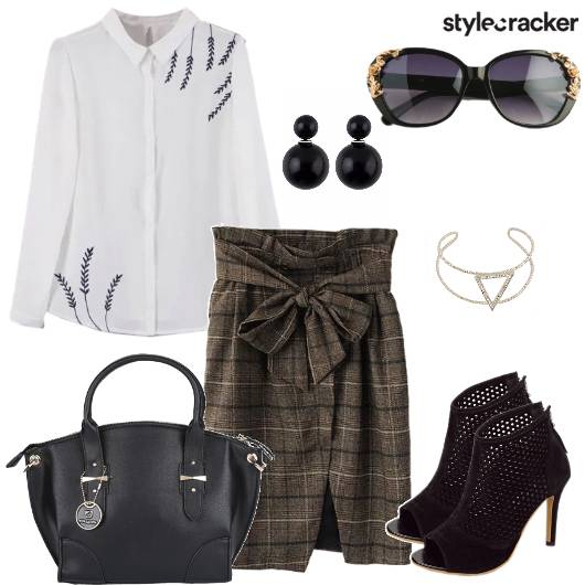 Shirt Skirt Shoes Work Day WeekDay - StyleCracker