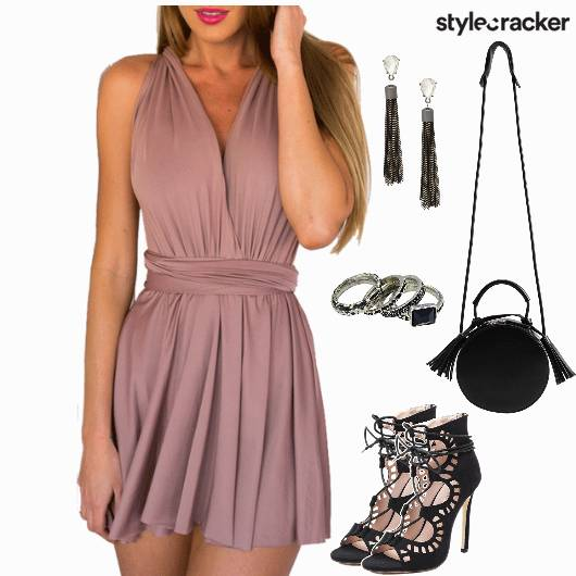 Dress LaceUp Evening Party  - StyleCracker